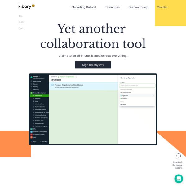 Fibery | Yet another collaboration tool