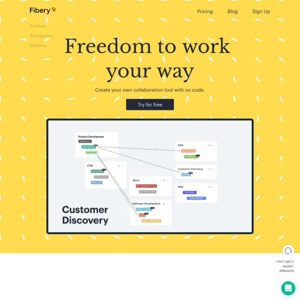 Fibery | Freedom to work your way
