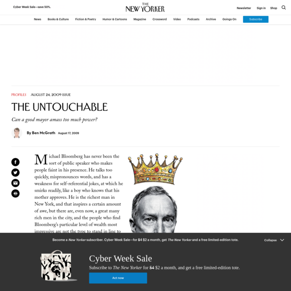 The Untouchable | The New Yorker