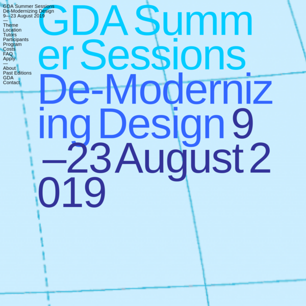 GDA Summer Sessions 2019