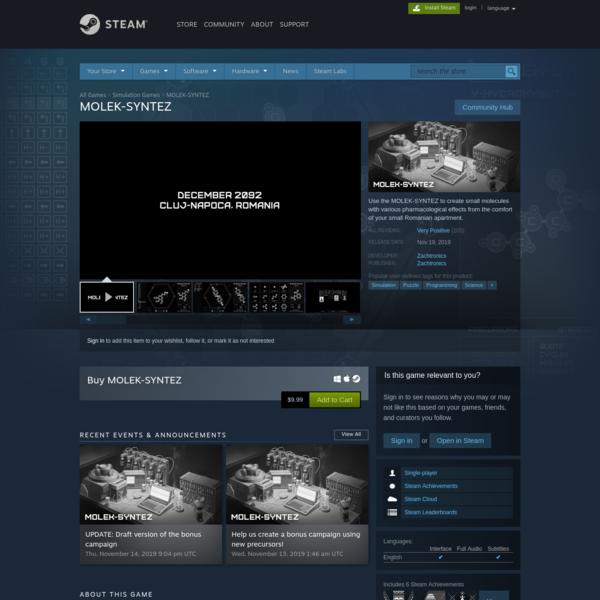 MOLEK-SYNTEZ on Steam