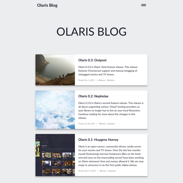 Olaris Blog