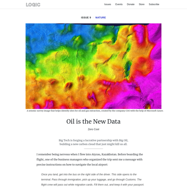 Oil is the New Data