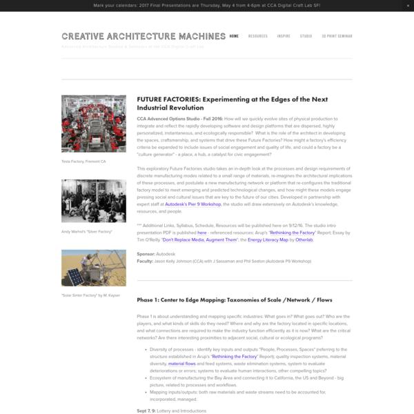 CREATIVE ARCHITECTURE MACHINES