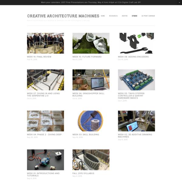 Studio - CREATIVE ARCHITECTURE MACHINES