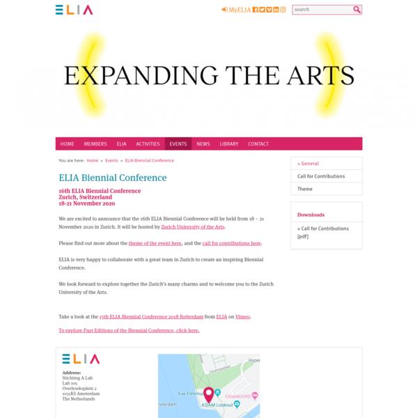 ELIA Biennial Conference