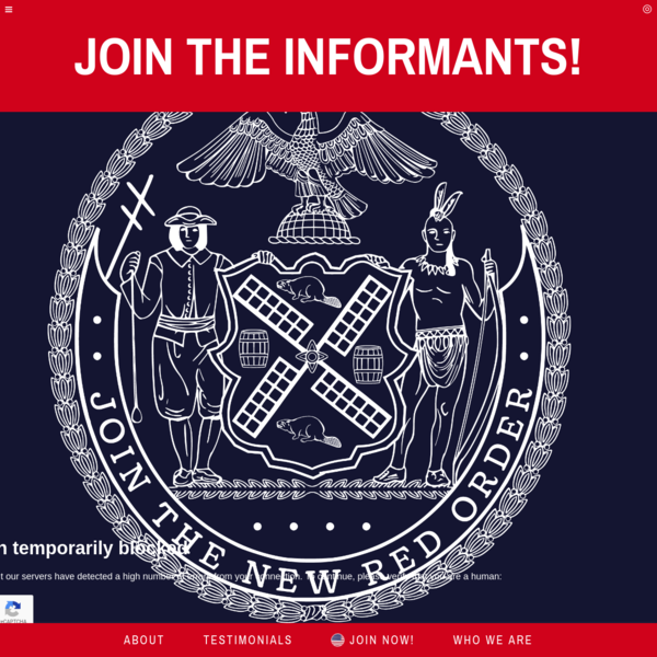 Triple Canopy - Join the Informants! by The New Red Order