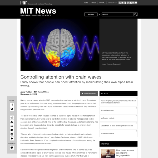 Controlling attention with brain waves | MIT News
