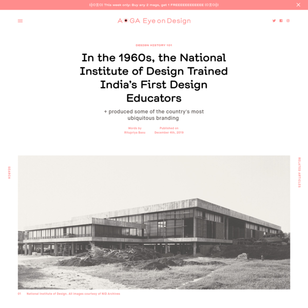 In the 1960s, the National Institute of Design Trained India's First Design Educators | | Eye on Design
