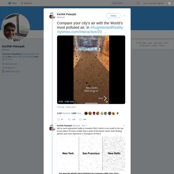 Karthik Patanjali on Twitter