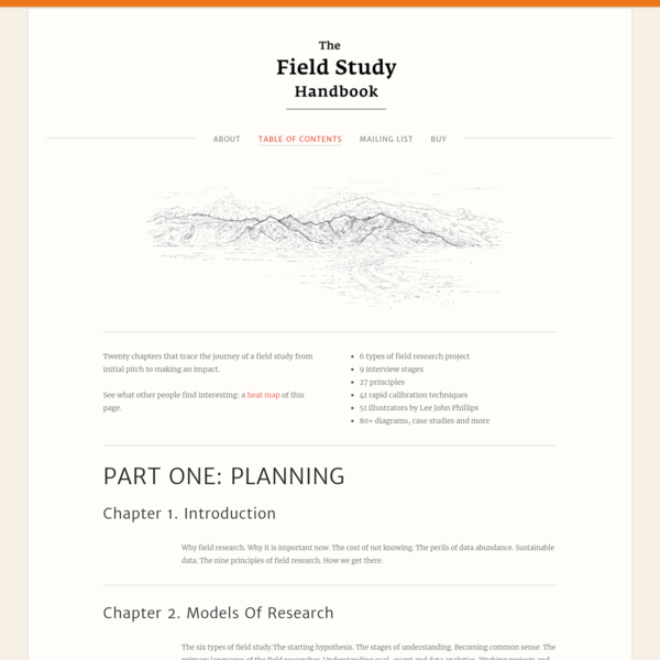 Table Of Contents - The Field Study Handbook
