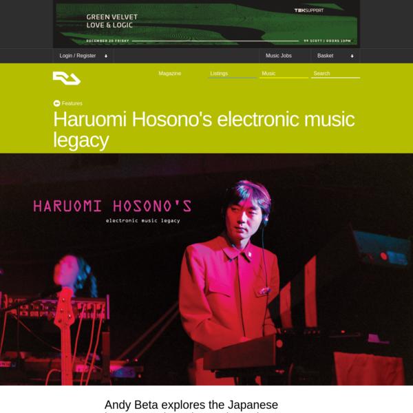 Haruomi Hosono's electronic music legacy