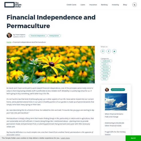 Financial Independence and Permaculture - The Simple Dollar