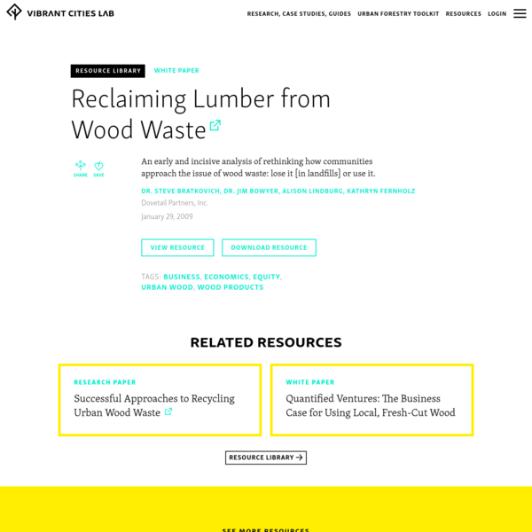 Reclaiming Lumber from Wood Waste