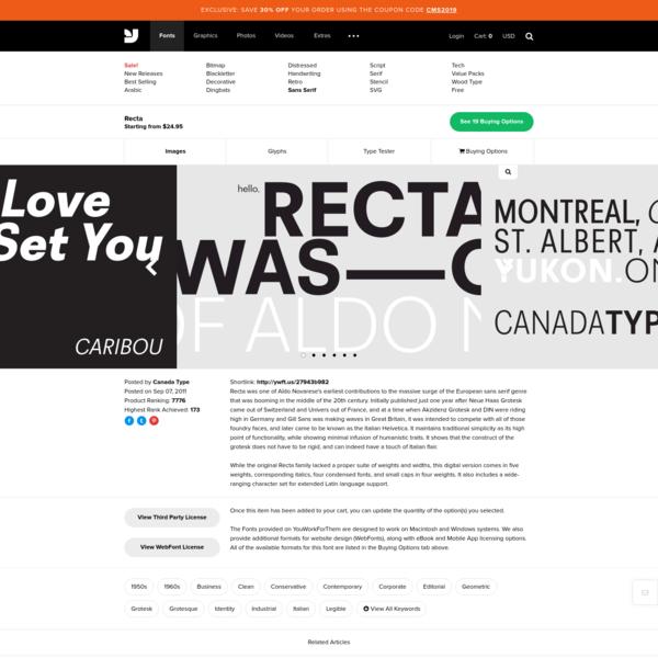 Recta - Desktop Font & WebFont - YouWorkForThem