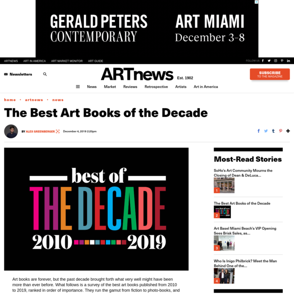 Best Art Books of the Decade: What Are They & Why They Are Important? – Page 2 – ARTnews.com