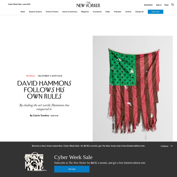 David Hammons Follows His Own Rules | The New Yorker