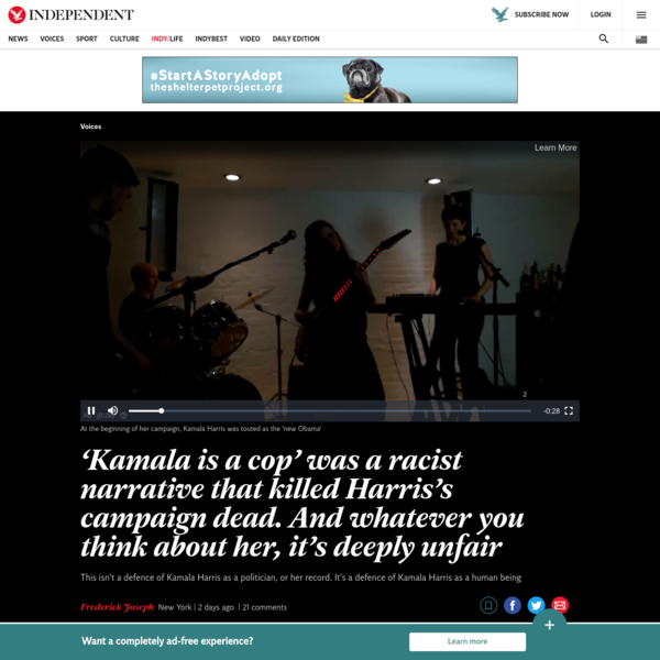 Opinion: 'Kamala is a cop' was the racist narrative that killed Harris's campaign dead