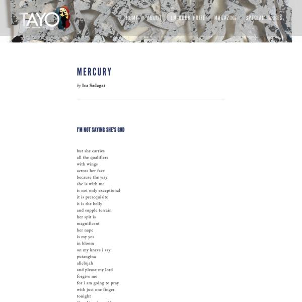 Ica Sadagat - TAYO Literary Magazine