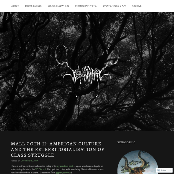 Mall Goth II: American Culture and the Reterritorialisation of Class Struggle
