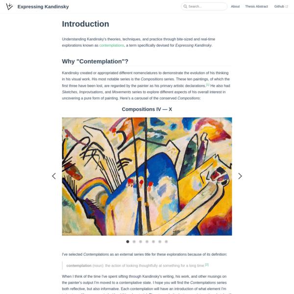 Introduction | Expressing Kandinsky