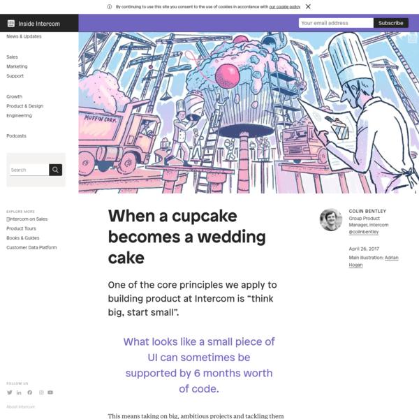 When a cupcake becomes a wedding cake | Inside Intercom