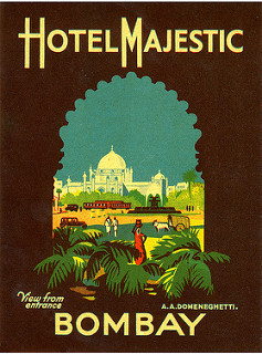 the postcard of Indian hotel