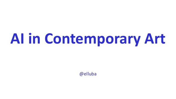 Luba Elliott - AI art - ICCV Conference
