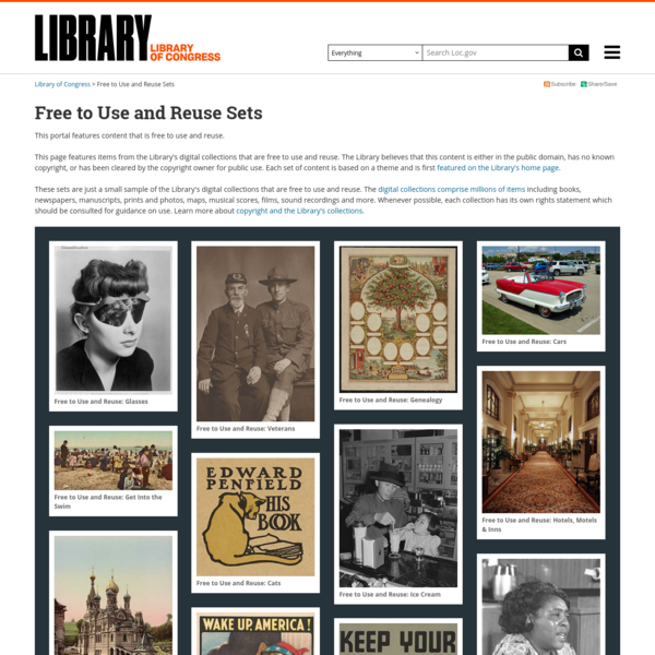 Free to Use and Reuse Sets | Library of Congress
