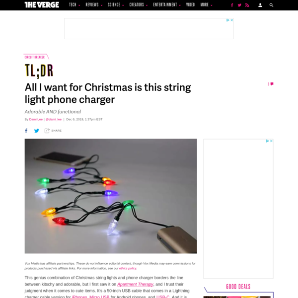 All I want for Christmas is this string light phone charger - The Verge