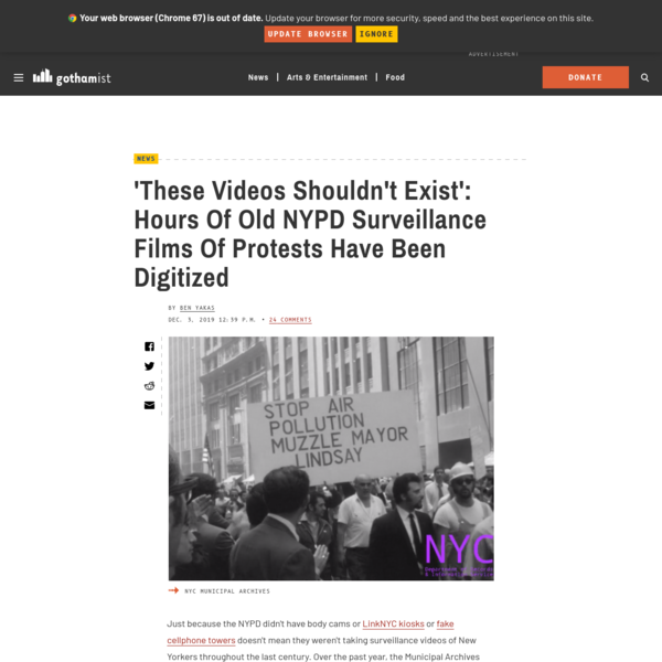 'These Videos Shouldn't Exist': Hours Of Old NYPD Surveillance Films Of Protests Have Been Digitized