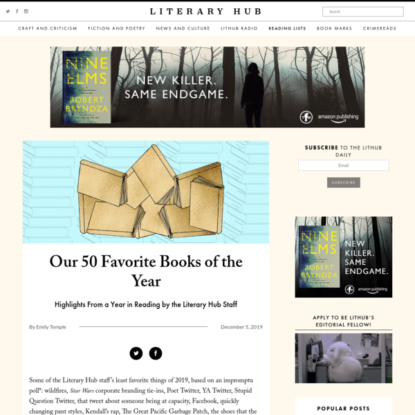 Our 50 Favorite Books of the Year | Literary Hub