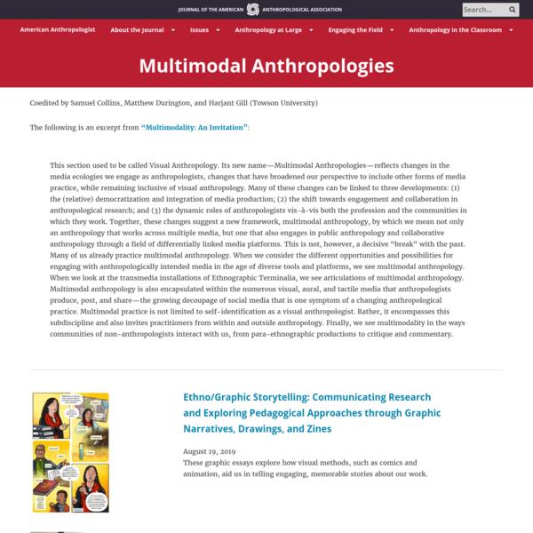 Multimodal Anthropologies