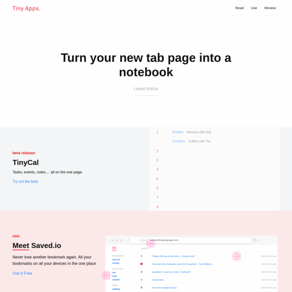 Tiny Apps   Really Simple Productivity Tools