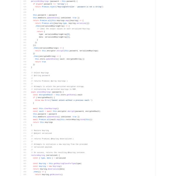 MetaMask/KeyringController