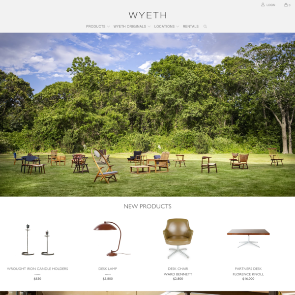 WYETH | Mid-Century Modern Furniture & Home Decor | NYC & The Hamptons