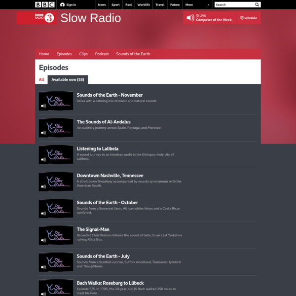BBC Radio 3 - Slow Radio - Available now