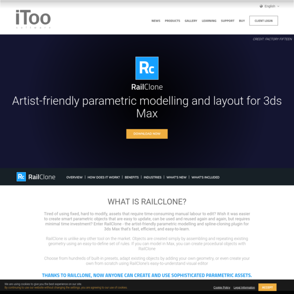 Artist-friendly parametric modelling plugin for 3ds Max