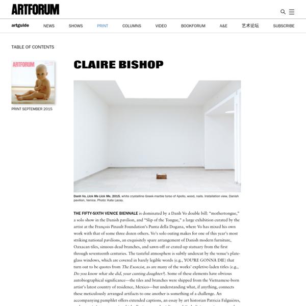 Claire Bishop