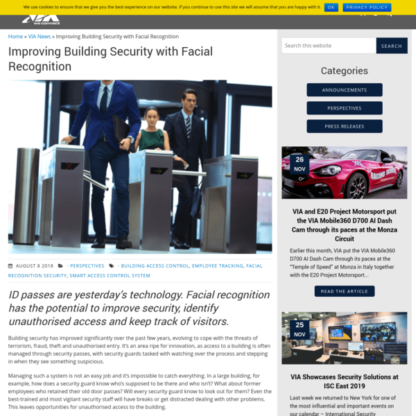 Improving building security with facial recognition - VIA Technologies, Inc.