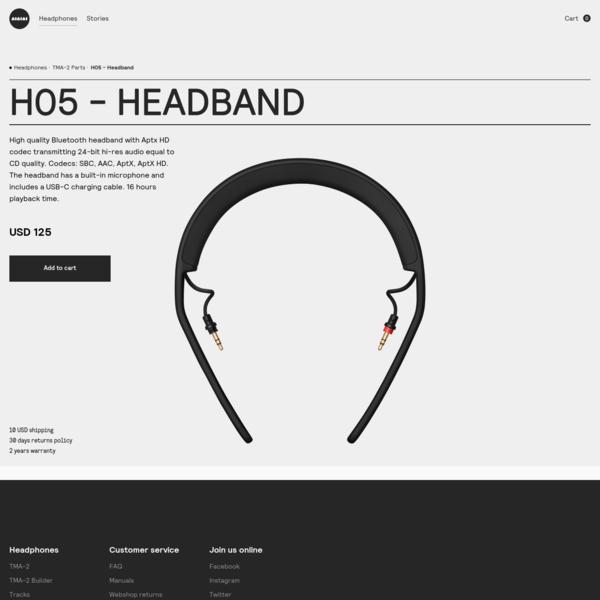 H05 - Headband | AIAIAI Headphones