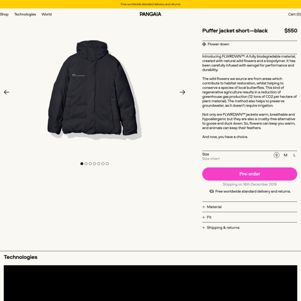 Puffer jacket short-black