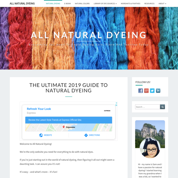 Natural Dyeing - Everything you need to know