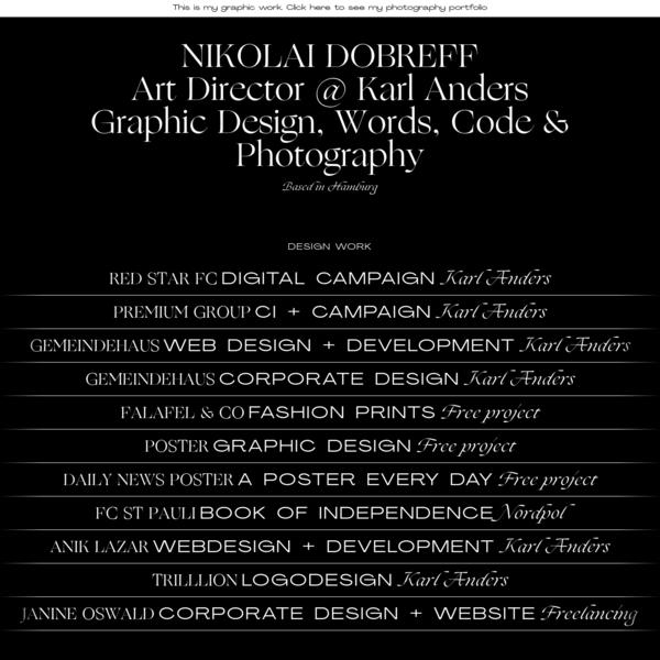 NIKOLAI DOBREFF ~ PHOTO & GRAPHIC DESIGN