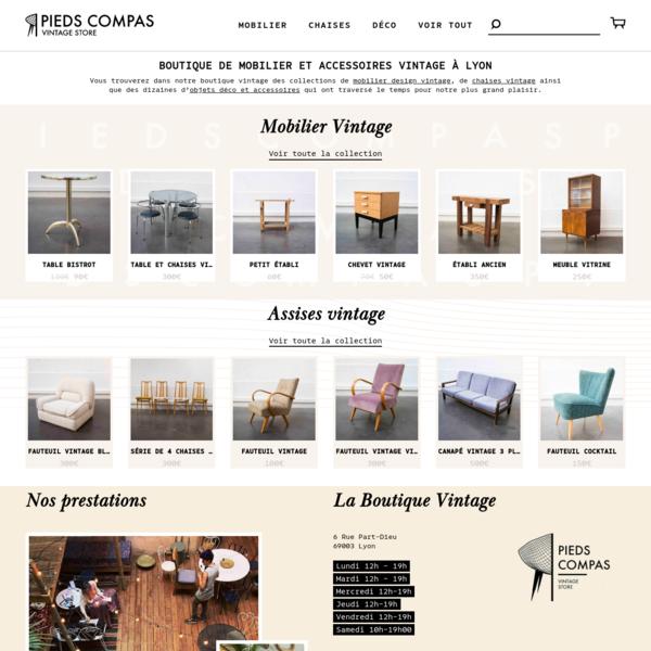 Pieds Compas   Vente mobilier Design Vintage scandinave