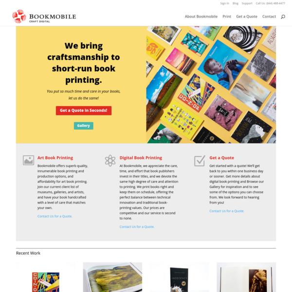 Home | Art Book Printing, Digital Book Printing | Bookmobile