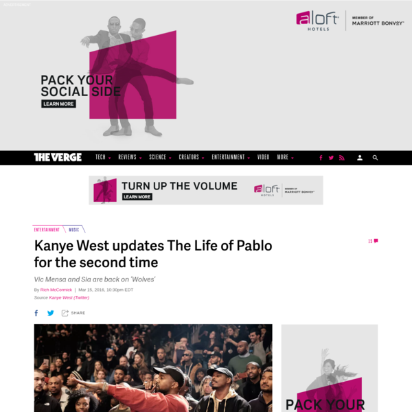 Kanye West updates The Life of Pablo for the second time