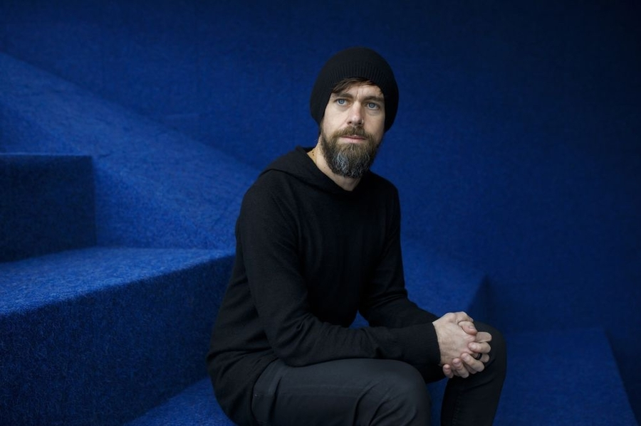 All black, sweatshirt, beanie - Jack Dorsey