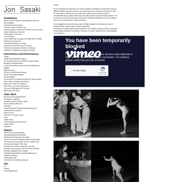 A Rest : Jon Sasaki
