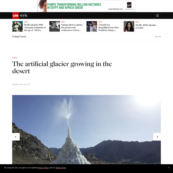 The artificial glacier growing in the desert